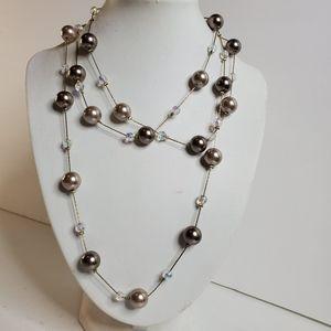 Lia Sophia Ball Beaded Necklace